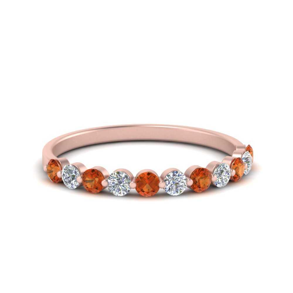 0.25-carat-single-prong-diamond-wedding-band-with-orange-sapphire-in-FD9478B(0.25ct)GSAOR-NL-RG