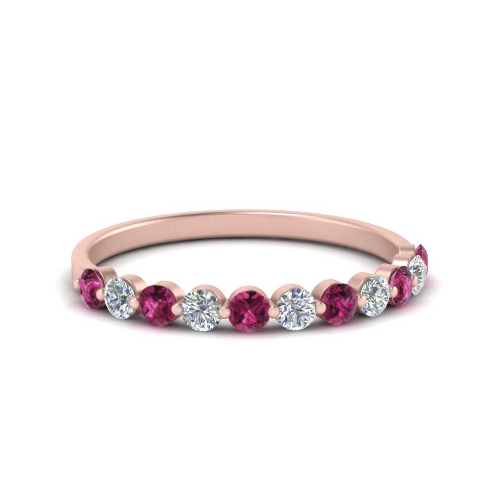 0.25-carat-single-prong-diamond-wedding-band-with-pink-sapphire-in-FD9478B(0.25ct)GSADRPI-NL-RG
