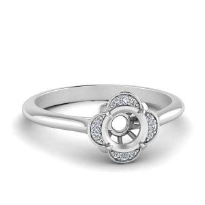 Semi Mount Vintage Halo Ring
