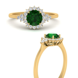 halo-round-cluster-emerald-engagement-ring-in-FD10014RORGEMANGLE3-NL-YG-GS