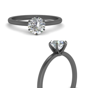 6 Prong Delicate Solitaire Ring