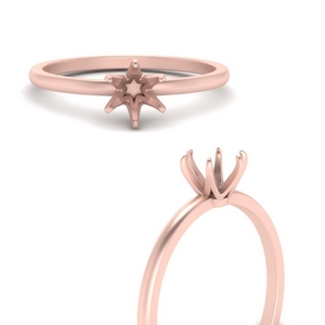 6 Prong Delicate Solitaire Ring Setting
