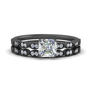 delicate-asscher-cut-vintage-black-gold-wedding-ring-set-FD1069AS-NL-BG