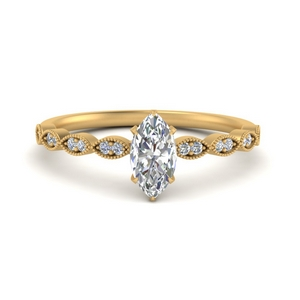 Marquise Vintage Moissanite Rings