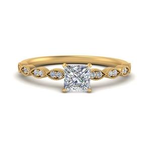 Princess Cut Antique Rings