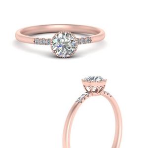 Bezel Diamond Thin Antique Ring
