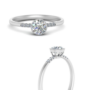 Round Cut Moissanite Rings