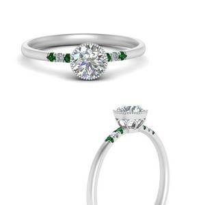 Round Bezel Thin Antique Ring