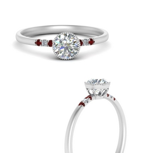 round-diamond-bezel-thin-antique-engagement-ring-with-ruby-in-FD121996RORGRUDRANGLE3-NL-WG
