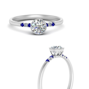 round-diamond-bezel-thin-antique-engagement-ring-with-sapphire-in-FD121996RORGSABLANGLE3-NL-WG