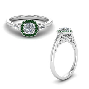old-fashioned-cushion-diamond-antique-engagement-ring-with-emerald-in-FD122910CURGEMGRANGLE1-NL-WG