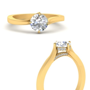Compass Point Lab Diamond Hidden Halo Ring