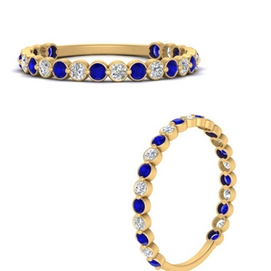 Bezel Diamond Half Eternity Ring