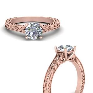 Vintage Lab Diamond Solitaire Ring