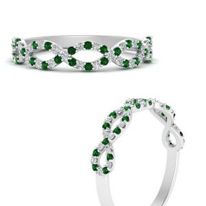 Infinity Twist Band With Emerald