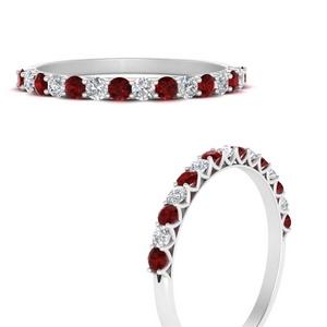 0.50-carat-u-prong-diamond-wedding-ring-with-ruby-in-FDWB660GRUDRANGLE3-NL-WG