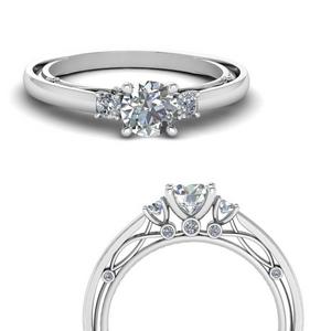 3 Stone Simple Vintage Ring