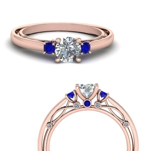 3-stone-simple-vintage-sapphire-engagement-ring-in-FD123373RORGSABLANGLE3-NL-RG