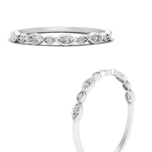 Stackable Diamond Marquise Band