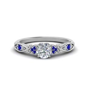 Victorian Delicate Moissanite Ring