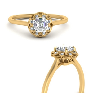 Engagement Rings With Asscher Halo