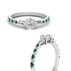Antique Delicate Emerald Ring