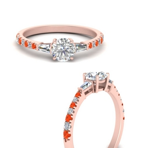 delicate-antique-pave-diamond-engagement-ring-with-orange-topaz-in-FDENR1801RORGPOTOANGLE3-NL-RG