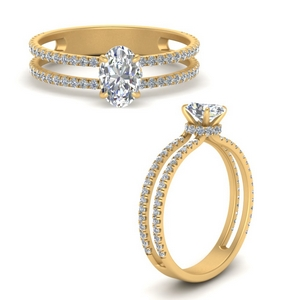 Oval Shaped Side Stone Rings