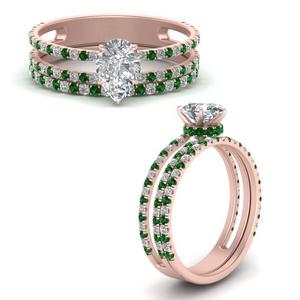 Hidden Halo Bridal Ring Set