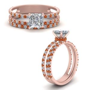Split Under Halo Bridal Ring Set