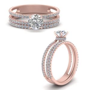 Round Wedding Ring Set Cheap