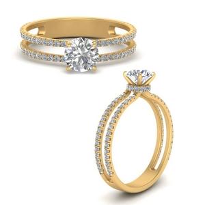 Lab Diamond Double Row Ring
