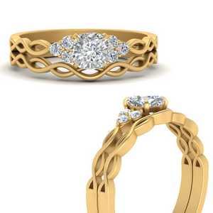 Infinity Accent Lab Diamond Ring Set