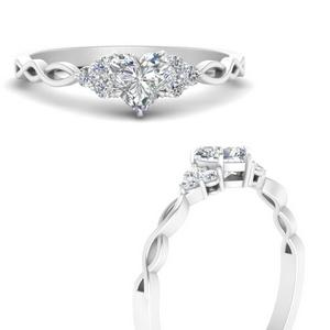 Infinity 3 Stone Accent Lab Diamond Ring