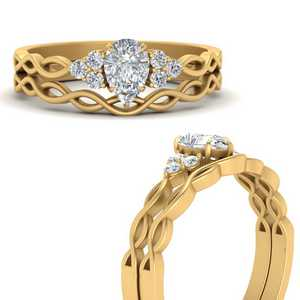 Infinity Accented Wedding Rings