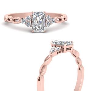 Lab Grown Radiant Cut Diamond Rings