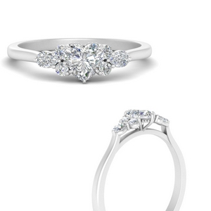 Cathedral Cluster Lab Diamond Ring