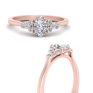 Heart Shaped Diamond  Milgrain Ring
