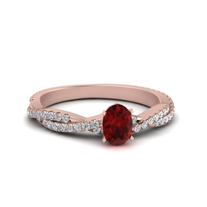 Oval Cut Valentine Ring