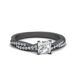 Black Gold Vine Diamond Ring