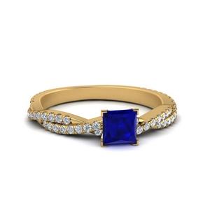 Princess Cut Sapphire Infinity Ring