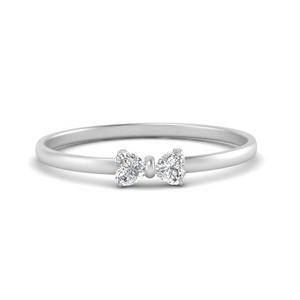 Cute Bow Diamond Ring