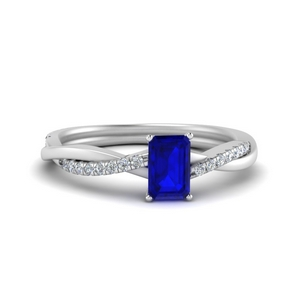 Sapphire Simple Engagement Ring