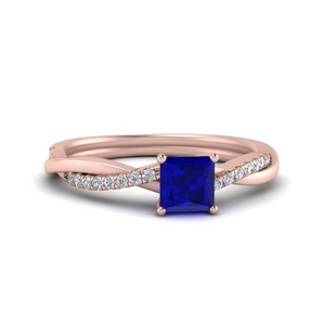 Intertwined Square Sapphire Ring