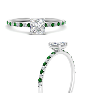 princess-cut-prong-diamond-engagement-ring-with-emerald-in-FD8362PRRGEMGRANGLE3-NL-WG