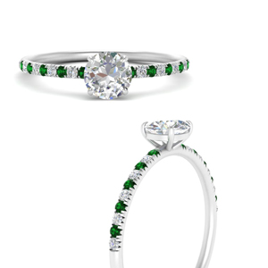 round-cut-prong-diamond-engagement-ring-with-emerald-in-FD8362RORGEMGRANGLE3-NL-WG