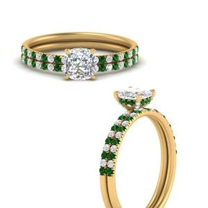 cushion-cut-pave-basket-emerald-wedding-ring-set-in-FD8523CUGEMGRANGLE3-NL-YG