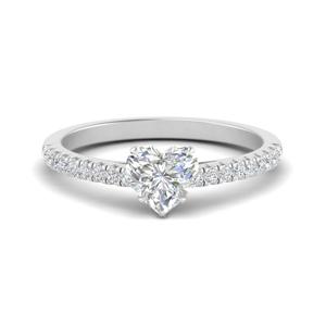 Heart Shaped Petite Engagement Rings
