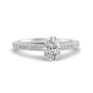 Oval Moissanite Simple Ring