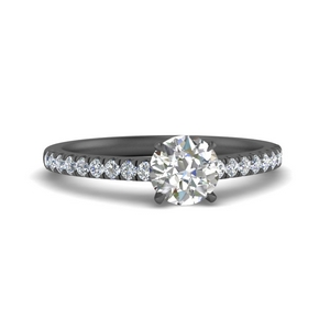 Thin Black Gold Moissanite Ring